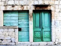 Old doors Island of Vis Croatia